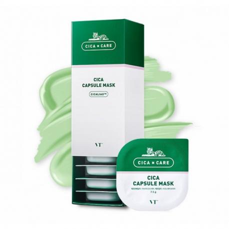 VT-COSMETICS Cica Capsule Mask 7.5g - Очищающая успокаивающая маска