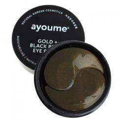 Ayoume Gold + Black Pearl Eye Patch (60pcs) - Патчи с золотом и жемчужной пудрой
