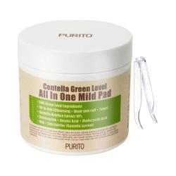 PURITO Centella Green Level All In One Mild Pad 130ml (70pcs) - Очищающие пэды с центеллой