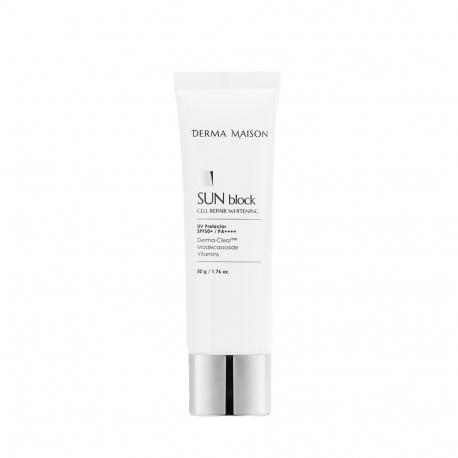 Medi-Peel Derma Maison Sun Block Cell Repair Whitening SPF50+PA++++ (50g) - Регенерирующий солнцезащитный крем