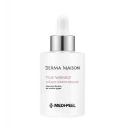 Medi-Peel Derma Maison Time Wrinkle Collagen Volume Ampoule 100ml - Антивозрастная интенсивная сыворотка для упругости кожи