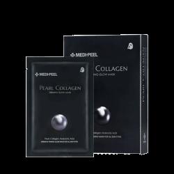 Medi-Peel Pearl Collagen Firming Glow Mask 25ml - Разглаживающая тканевая маска с коллагеном и жемчугом