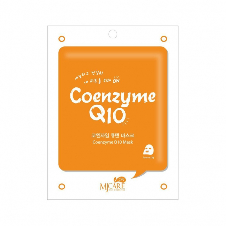 MJ Care on Coenzyme Q10 Mask Pack 22g - Антиоксидантная тканевая маска
