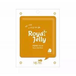 MJ Care on Royal Jelly Mask Pack 22g - Питательная тканевая маска