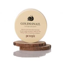 PETITFEE Gold & Snail Eye Patch (60pcs) - Регенерирующие патчи с золотом и секретом улитки