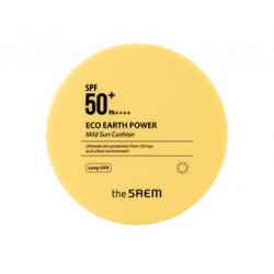 The Saem Eco Earth Power Mild Sun Cushion SPF50+ PA++++ (15g) - Солнцезащитный крем в кушоне