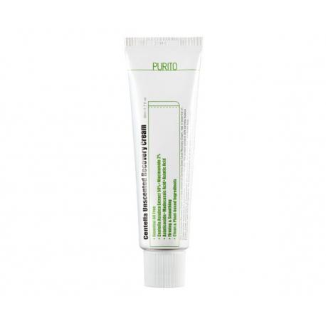 PURITO Centella Unscented Recovery Cream 50ml - Восстанавливающий крем с центеллой для чувствительной кожи