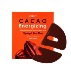PETITFEE Cacao Energizing Hydrogel Face Mask - Тонизирующая гидрогелевая маска с какао