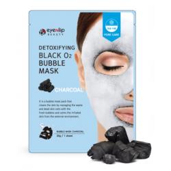 Eyenlip Detoxifying Black O2 Bubble Mask Charcoal 20g - Очищающая кислородная маска с углём