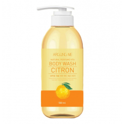 Welcos Around Me Natural Perfume Vita Body Wash Yuja 500ml - Гель для душа тонизирующий с экстрактом Юдзу
