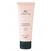 Etude House AC Clean Up Pink Powder Mask 100ml - Очищающая маска для лица с розовой глиной для проблемной кожи