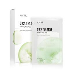 NACIFIC CICA TEA TREE Relaxing Mask Pack 30g - Успокаивающая тканевая маска с центелой